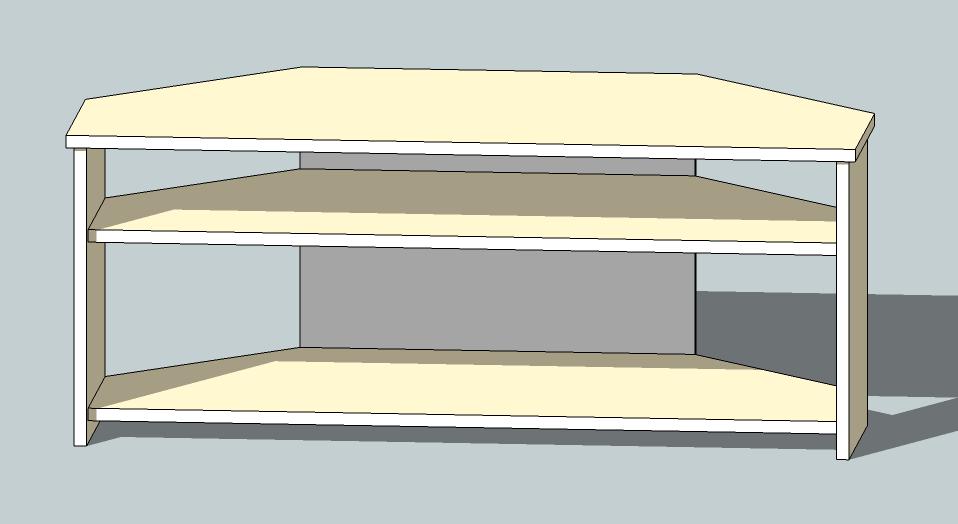 Tv corner table id e inspirante pour la conception de la maison for Linge de table design