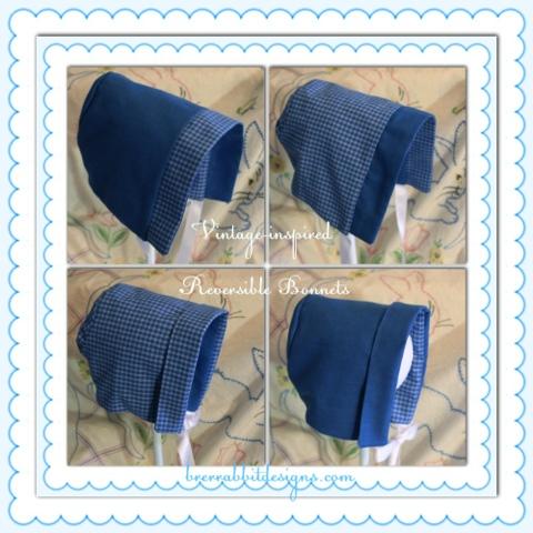 Vintage Inspired Reversible Bonnets Pdf Pattern By Brer Rabbit Designs
