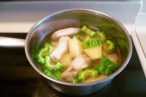Vietnamese Chicken Recipes - Canh gà nấu dứa, khổ qua