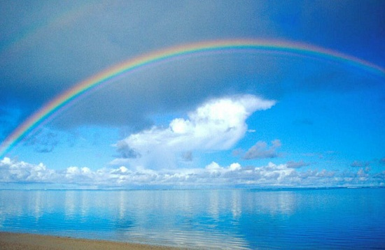 paisaje de amor arcoiris