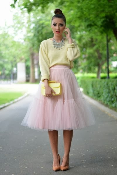 Modest knee and midi tulle skirts | Mode-sty tznius fashion