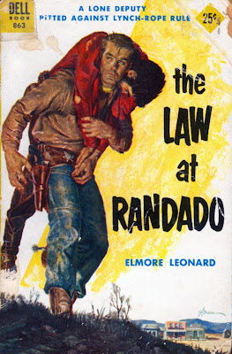 Dell cover of The Law at Randado by Elmore Leonard