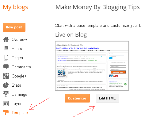 Heading Tags Optimization in Blogger