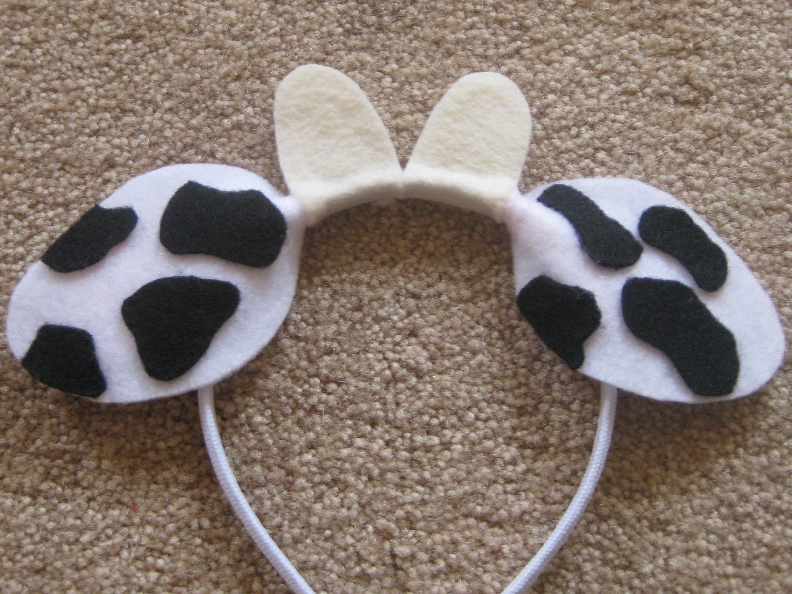 graphic relating to Cow Ears Printable titled Ashleys Craft Corner: Animal Ears Headbands