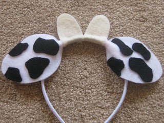 Crazy image inside printable cow ears