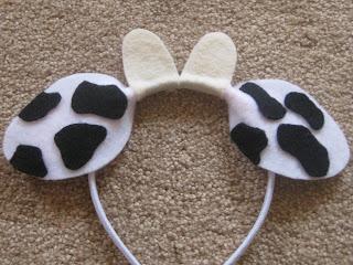 Adaptable image with regard to printable cow ears