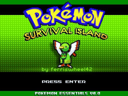 Would this be the coolest free Pokemon RPG - Pokemon Survival Island TitleScreen