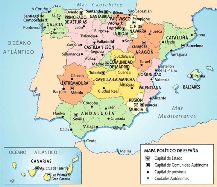 La clase de la Srta Virginia Mapa capitales de provincia y de