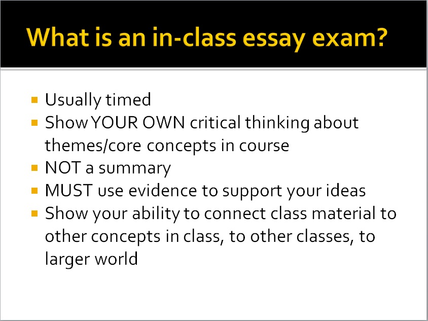 Write my writing essay exams
