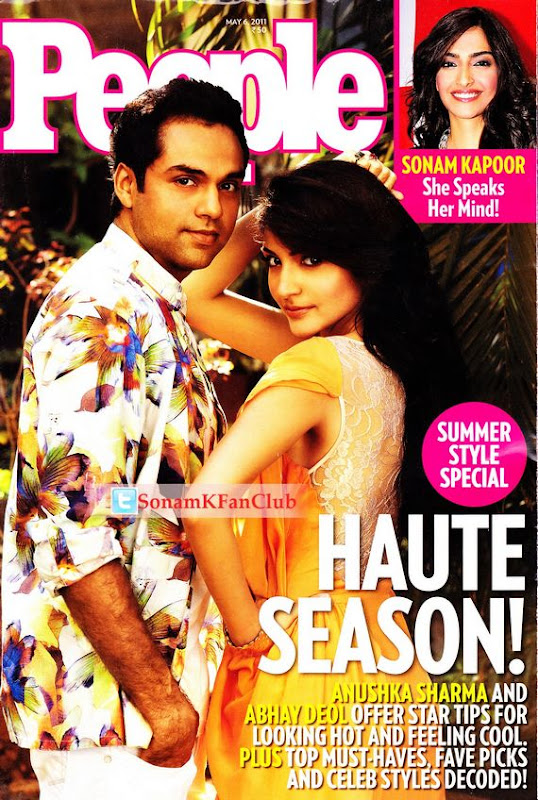 Anushka Sharma People Magazine April 2011