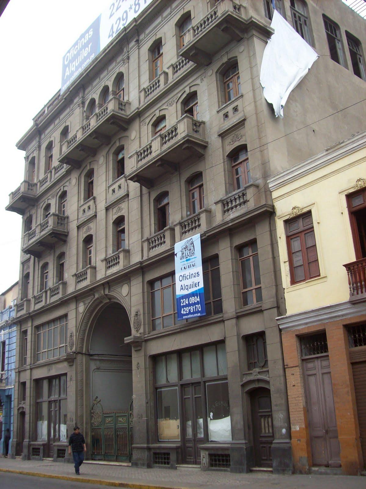 Figura 3. Actual Imagen del edificio - Ingreso principal por el Jirón