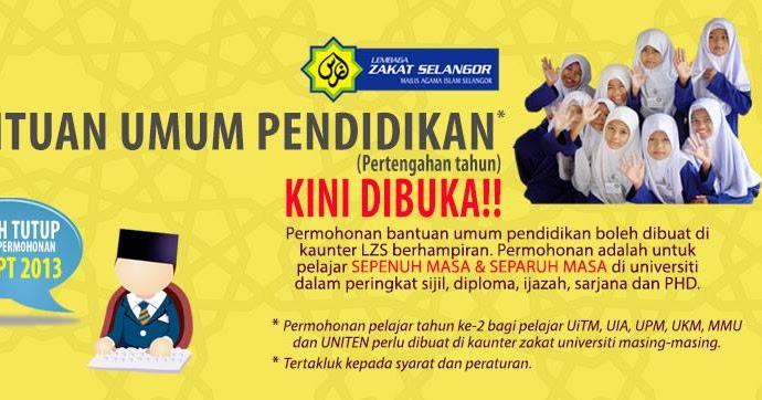 Persatuan Penduduk Puncak Alam Fasa 2 Bantuan Umum Pendidikan Lembaga Zakat Selangor Kini Dibuka