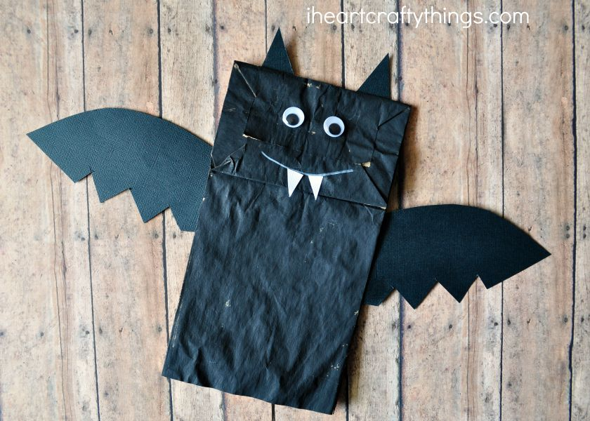 Paper Bag Bat Halloween Craft For Kids I Heart Crafty Things