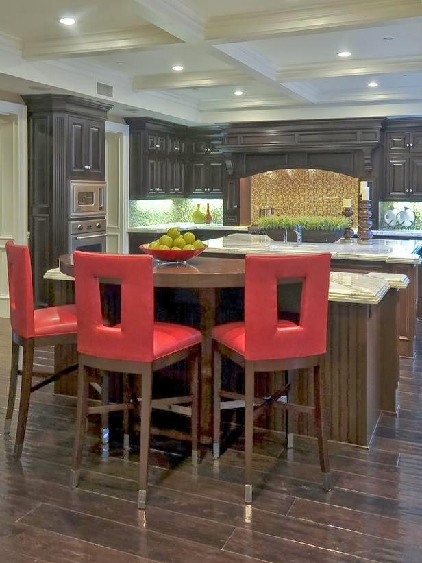 dapur cantik dengan warna atraktif rumah idamanku