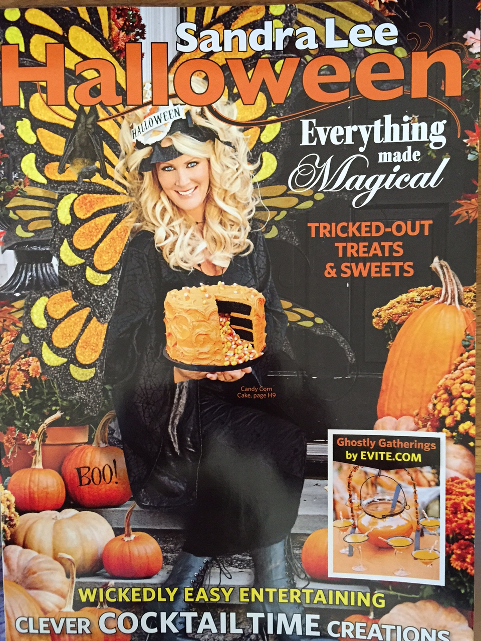 vintage halloween collector: sandra lee 2015 fall/halloween magazine