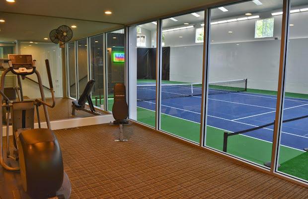 House with Indoor Tennis Court