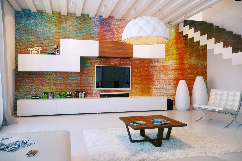 Colorful Brick Walls Of Modern