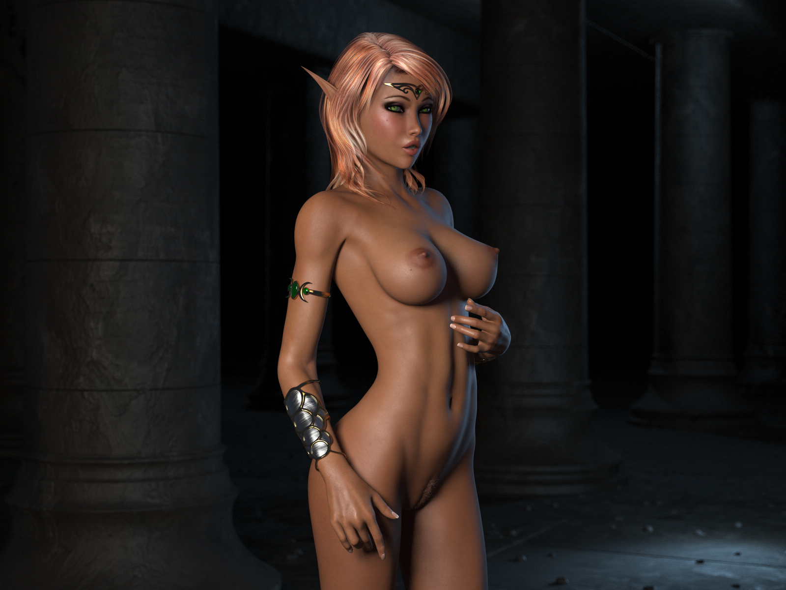 Naked elf anime nackt photo