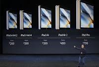 Οι διαφορές τιμών στα ipad της Apple όπως παρουσιάστηκαν.