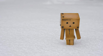 alone danbo in snow