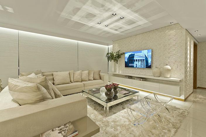 Decoracao De Sala Off White ~ Salas brancas e off whites  veja dicas e ambientes lindos decorados