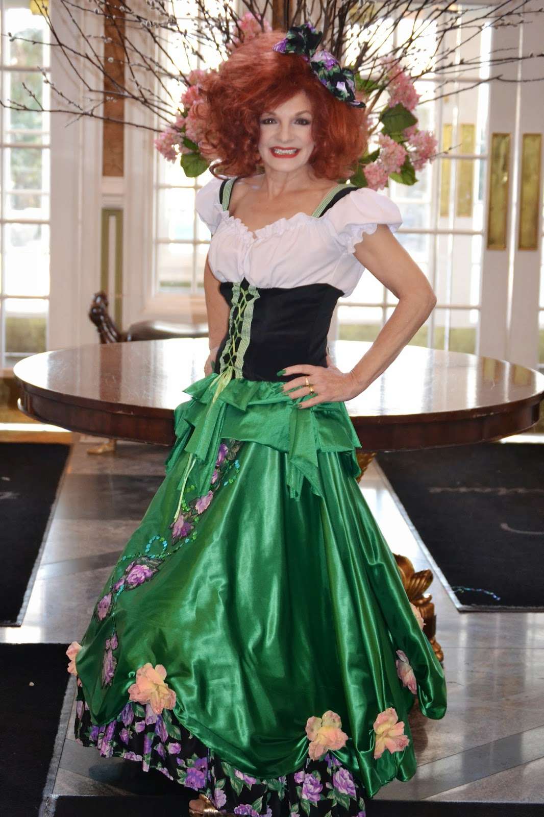 Laura Roth in Irish Costume