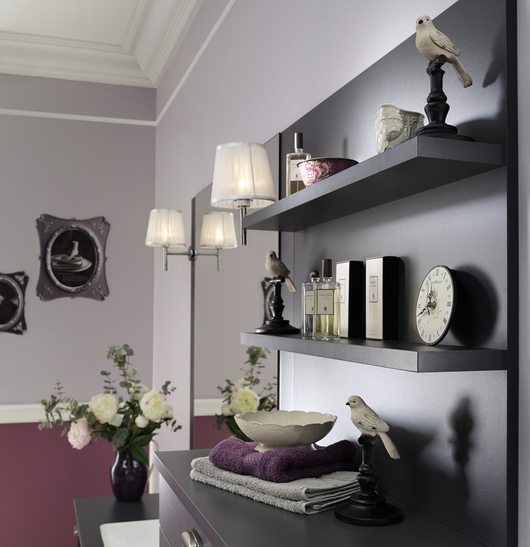 Deco etagere salon for Deco miroir salon