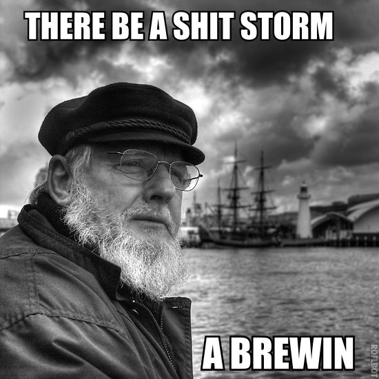 shitstorms a brewin
