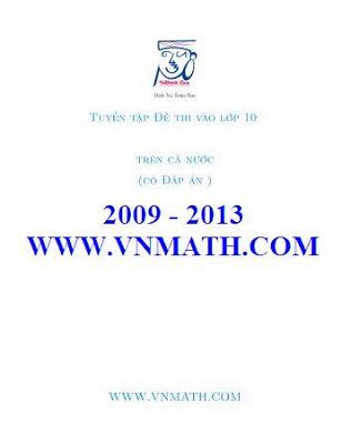 Đề thi vào lớp 10 môn Toán 2009 2010 2011 2012 2013 2014