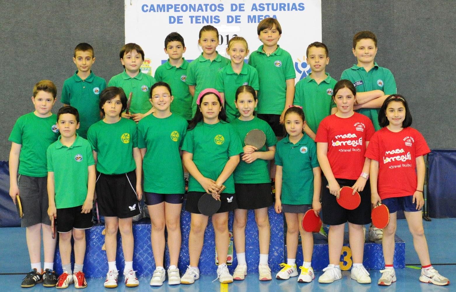 Avil s tenis de mesa resultados del campeonato de asturias benjam n - Aviles tenis de mesa ...