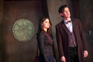 Doctor Who Matt Smith and Jenna-Louise Coleman