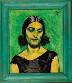J.F. Willumsen, Portræt af Michelle Bourret, 1930