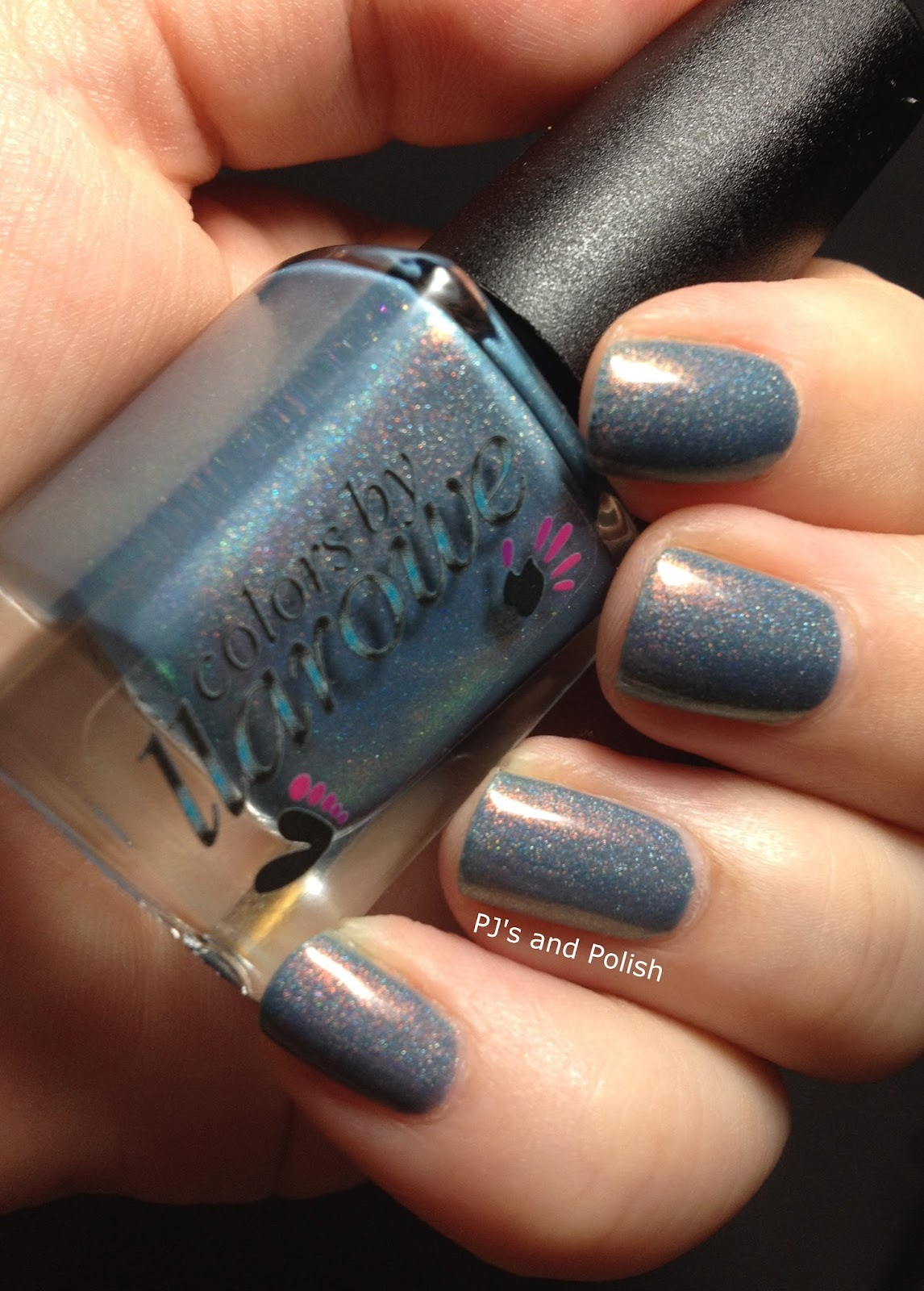 Swatch and Review Colors by Llarowe CbL Wind Beneath My Wings HK Girl Holo Shimmer
