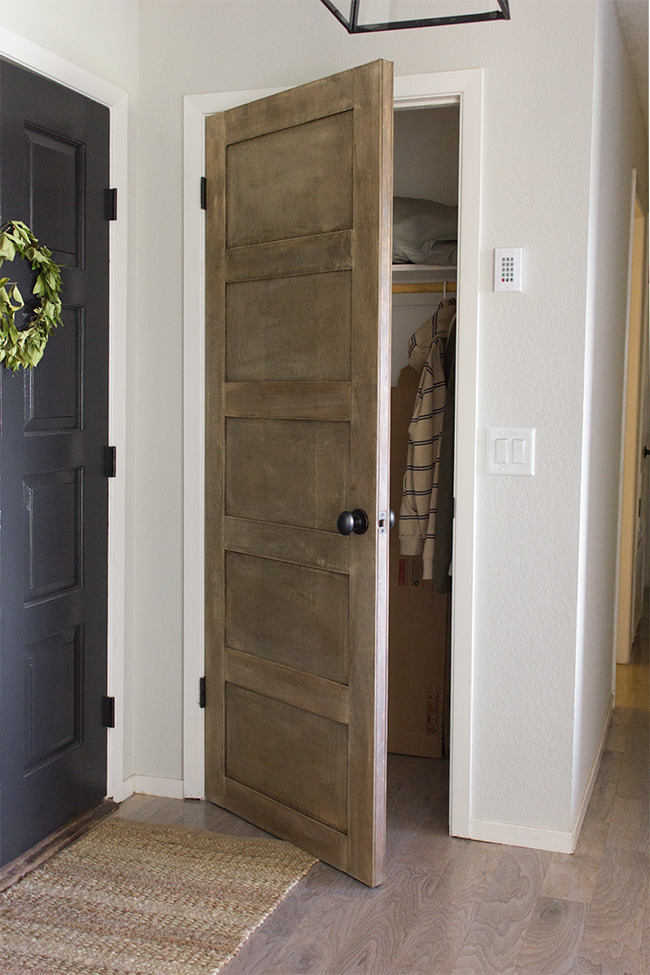 How to make your hollow core doors look expensive when you for Plain main door designs