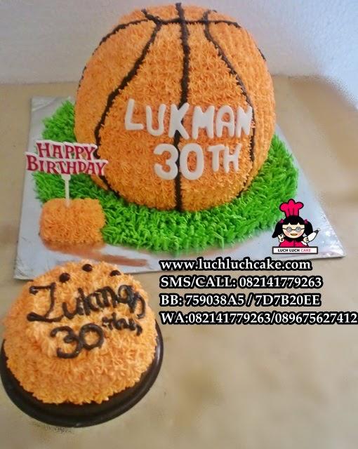 Kue Tart 3D Bola Basket Daerah Surabaya - Sidoarjo (Repeat Order)