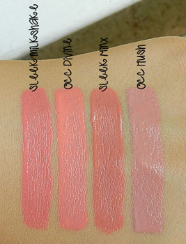sleek pout paint swatches