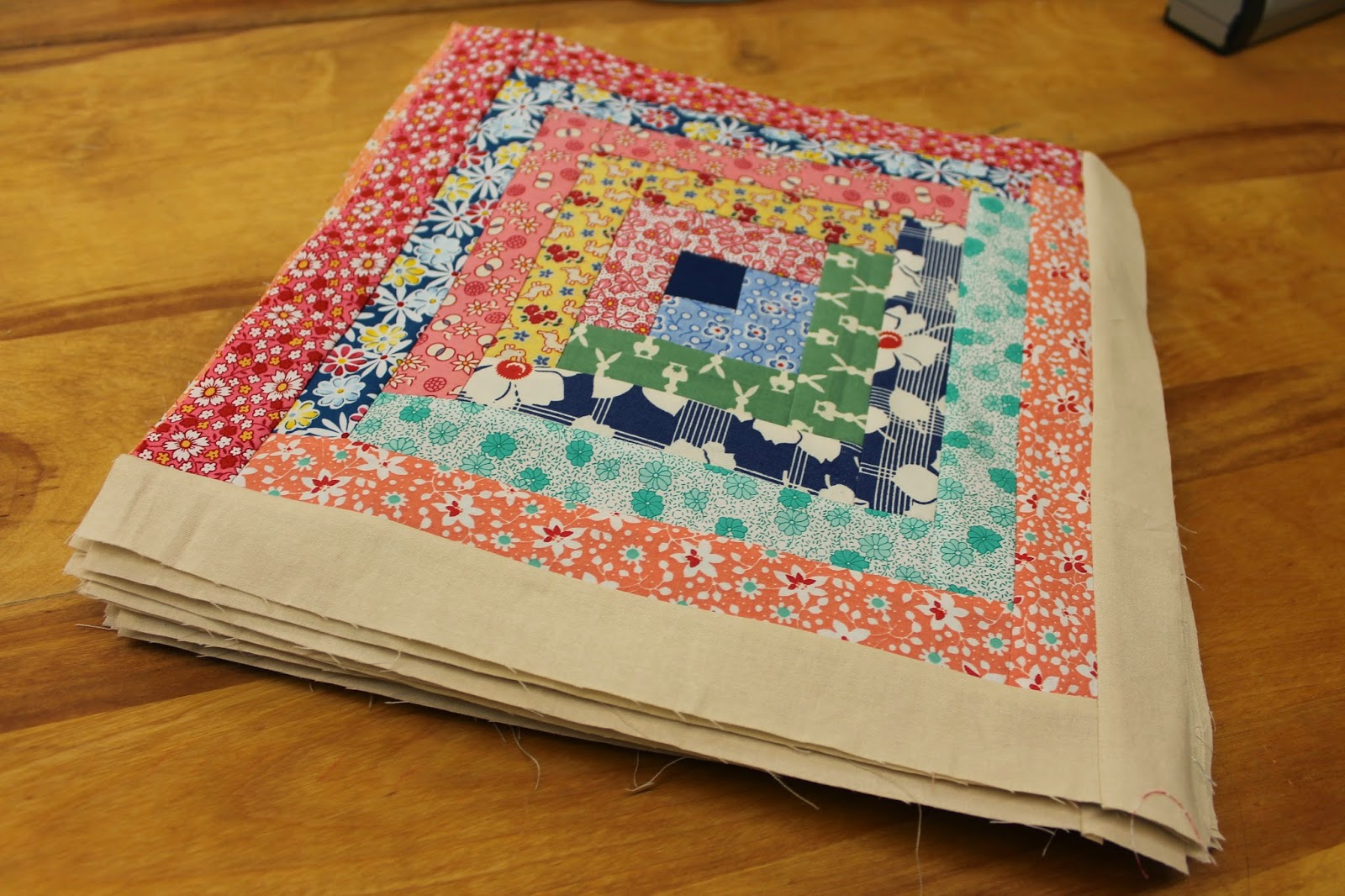 Charmant ... Quilting Is More Fun Than Housework Log Cabin Quilt Top ...