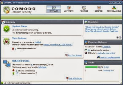 Comodo Internet Security free for Business