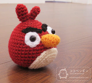 Black Angry Bird Amigurumi Pattern : AmiCastle
