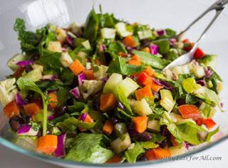 black bean chat salad