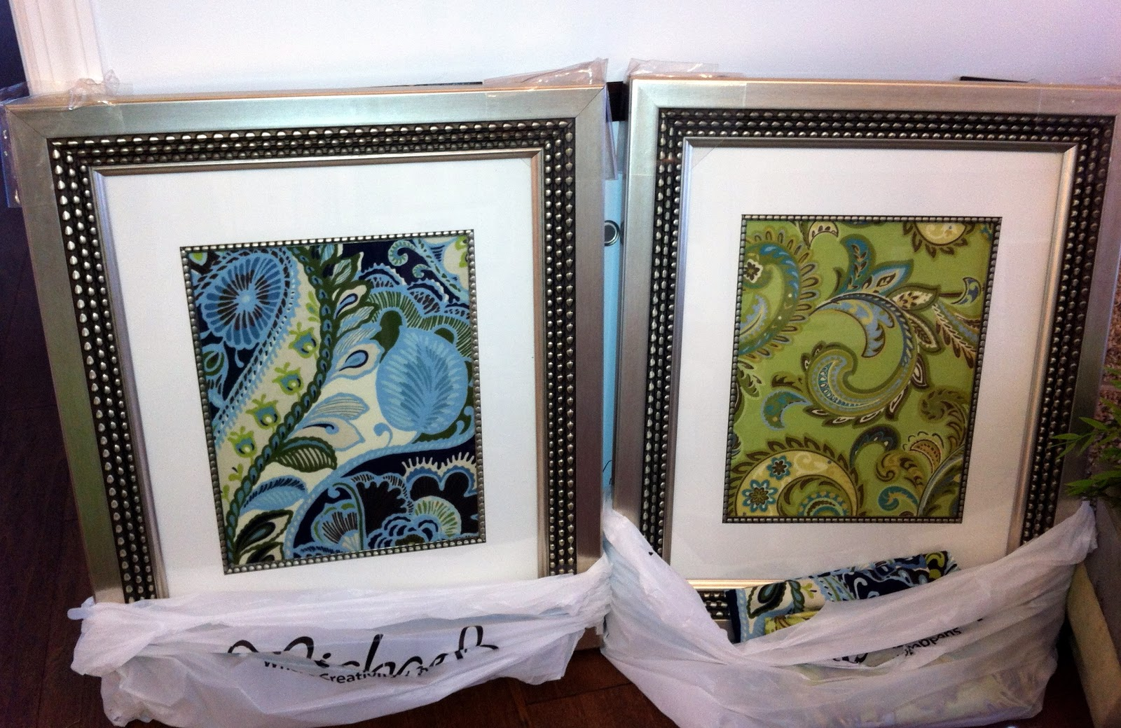 Loveyourroom diy framed fabric as art for Fabric picture frames
