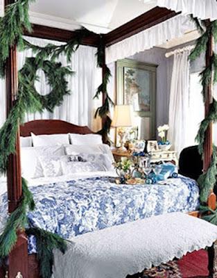 decorar dormitorio navidad