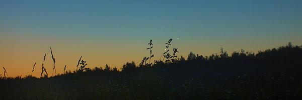Луна, Венера и Юпитер - вид с Лисьей Горы | астрономическая фотогалерея от Андрея Климковского