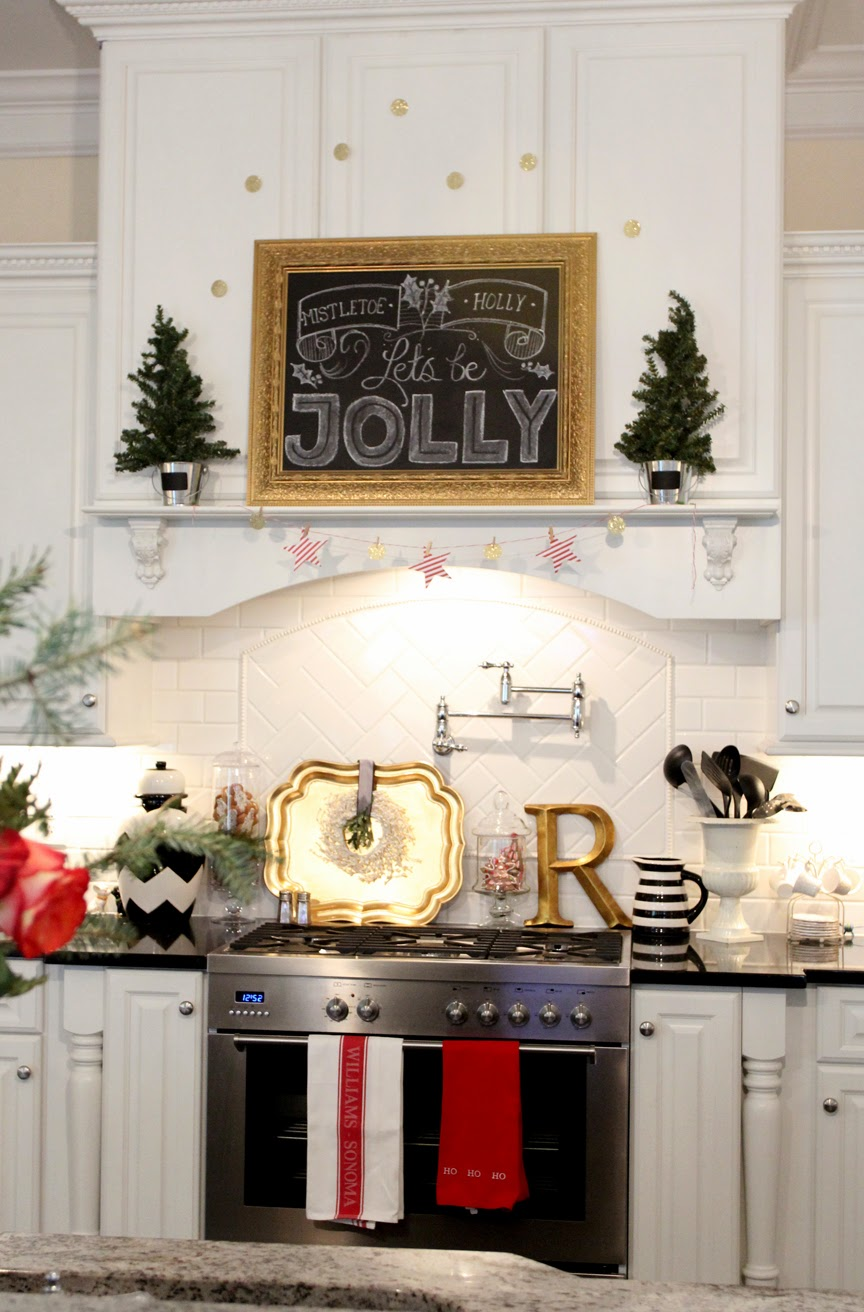 Christmas Kitchen Our Jolly Christmas Kitchen And Free Chalkboard Printable