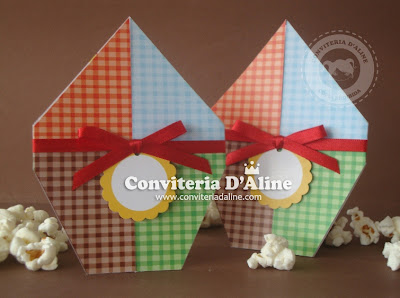 convite balão festa junina