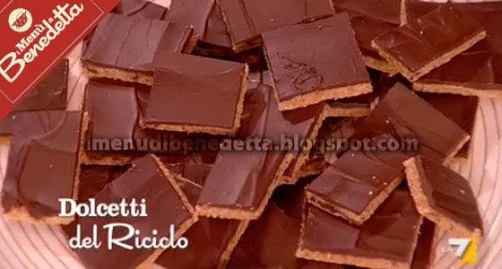 Dolcetti del Riciclo (Quadrotti Biscotto e Cioccolato) di Benedetta Parodi