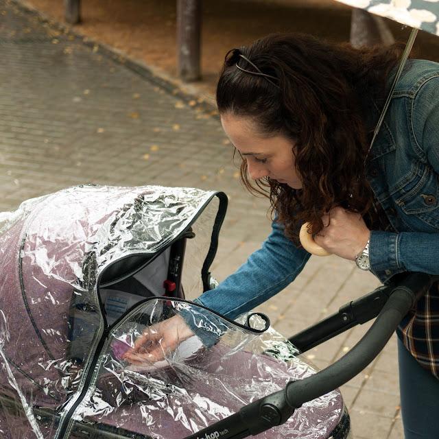 El plástico de lluvia del carrito Hip Hop Tech de Bébécar