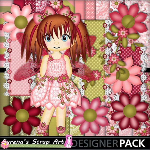 Fairy Rose digital Scrapbook kit