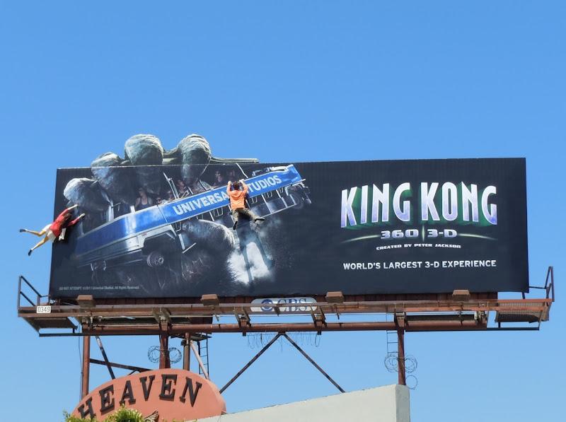 King Kong 360 3D mannequin billboard