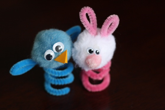 Puppets munchkins and mayhem for Easter crafts pipe cleaners